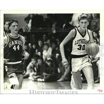 1989 Press Photo Joey Althage of Lutheran High School leads them to 17-4 record.