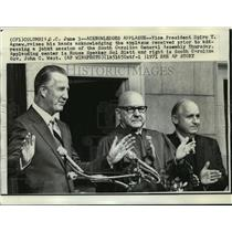 1971 Press Photo Vice President Spiro Agnew at South Carolina General Assembly
