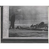 Press Photo Canadian Army engineer Mailbox Violence