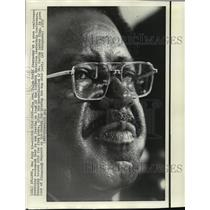 1973 Press Photo Rev. Ralph David Abernathy Leaves Southern Christian Post