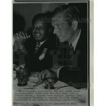 1969 Press Photo Reverend Ralph David Abernathy with Mayor John Lindsey