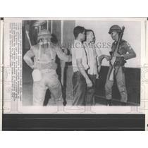 1968 Press Photo Armed Panama national guardsmen city