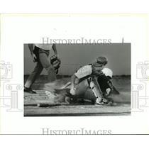 1991 Press Photo Baseball - East St. Johns A. Anderson & Grace King's J. Crowder