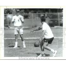 1994 Press Photo St. Charles Catholic Player Brock Anderson & Coach Wayde Keiser