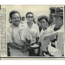 1969 Press Photo Reverend Ralph David Abernathy after release from county jail