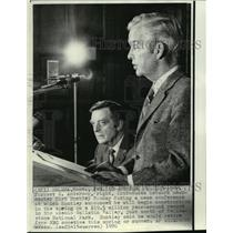1970 Press Photo Gov. Forrest H. Anderson and network newscaster Chet Huntley