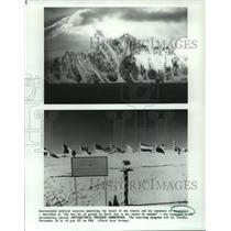 "1990 Press Photo Antarctic Landscapes, PBS Special ""Antarctica: Frozen Ambition"""