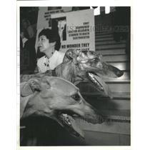 1997 Press Photo Protest End Greyhound Racing Boston