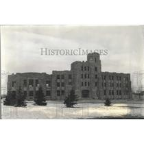 1939 Press Photo Wyoming University Union Bldg Labor