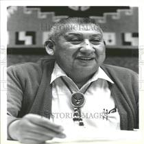 1986 Press Photo Calvin Lay Seneca Nation President