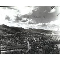 1975 Press Photo Aerial view of St. Maries, Idaho's Benewah County - spa52153