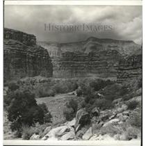 1942 Press Photo Supai Canyon smallest Indian reservation - spa54579