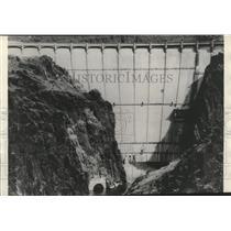 1936 Press Photo Owyhee Dam, a Federal reclamation project-Oregon-Idaho border