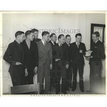1939 Press Photo Regis College Oraterical Sivler Plaque