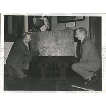 1939 Press Photo  Matthew  Stirling Institution Stone