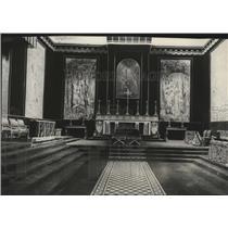 1929 Press Photo Chapel Paolima Prince Umberto, Princess Marie Jose wedding site