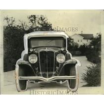 1931 Press Photo Head-On View of Auburn 8-98 Car - neo20775