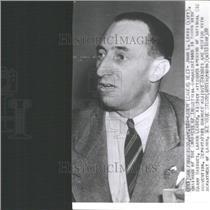 1939 Press Photo Harry Bridges Labor Leader CIO