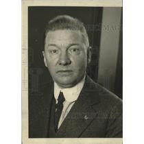 1922 Press Photo J.G. Luhrsen head of Train Dishpatchers Assn of America
