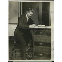 1926 Press Photo Robert Peary Engineering Officer of Narwhal Expedition