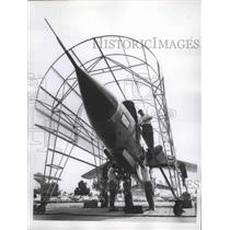 1960 Press Photo U.S Air Force F-10f D. Fighter Bomber Plane - nef65981