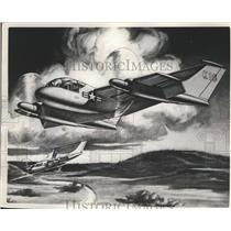 1957 Press Photo Artist concept of STOL Aircraft developed by Kaman Aircraft