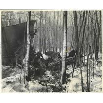 1943 Press Photo Two Ferry Pilots Died in This Wreckage When Planes Crashed