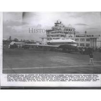 1957 Press Photo Twin-jet Caravelle passenger plane of France - spa74167