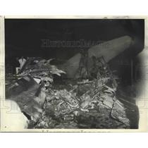 1935 Press Photo Four People Burned to Death When Air Express Liner Crashed
