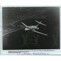 1985 Press Photo AirResearch Aviation's 731 Hawker Mid-Flight - mja61942