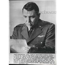 1961 Press Photo F100 Fighter Pilot Lt James W Van Scyoc - spa74387