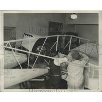 1932 Press Photo Four Spindle substituted for the wings of Conventional Planes