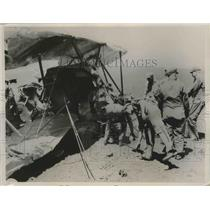 1936 Press Photo Army Officers Killed When Their Observation Plane Crashed
