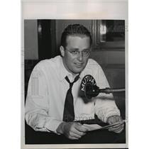 1930 Press Photo New York Elliott Roosevelt Radio Mutual Broadcasting System NYC
