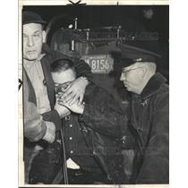 1964 Press Photo  Fireman Michael Rooney Engine Smoke