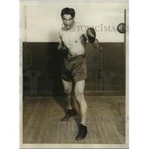 1928 Press Photo Boxer Roberto Roberti to Fight Phil Scott, Madison Sqaure