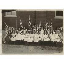1940 Press Photo  Littlest Girls Class Board Shepherd