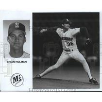 1990 Press Photo Seattle Mariners baseball pitcher, Brian Holman - sps04561