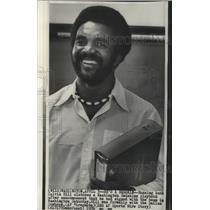 1976 Press Photo New Washington Redskins football player, Calvin Hill - sps05146