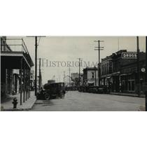 1928 Press Photo Street Scene, Ritzville, Washngton - spx18116