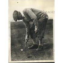 1930 Press Photo Joshua Crane of U.S. team practicing for British Open