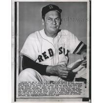 1955 Press Photo Boston Red Sox baseball manager, Mke Higgins - sps05351