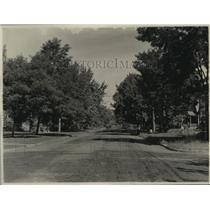 1929 Press Photo Residence Street Scene, Walla Walla, Washington - spx18218