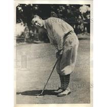 """1929 Press Photo Arthur Bartlett, """"King of Iowa Golfers,"""" wins 32 tournaments"""
