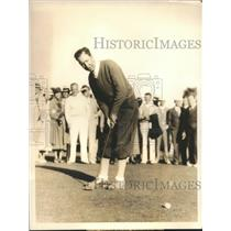 1933 Press Photo Willie MacFarlane winning the Miami Biltmore Open - sbs06220