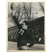 1939 Press Photo Harley McCollum, Tackle, Tulane University, Hearst All-American