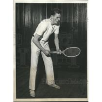 1930 Press Photo Richard Downing, Doubles titleholder, seeks Singles title