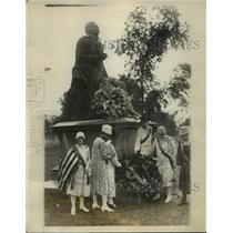 1928 Press Photo New York Central Park Memorial Statue of Robert Burns NYC