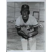 1973 Press Photo Jerry Bell of Milwaukee Brewers - mja65710