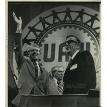 1877 Press Photo President Carter at UAW Convention in Los Angeles - mja65979